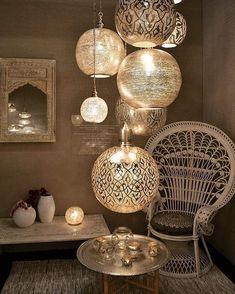 A new take on bohemian lanterns