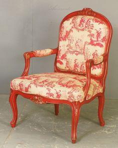 fauteuil berg re toile de jouy bordeaux sur fond parme toile de jouy pinterest parme. Black Bedroom Furniture Sets. Home Design Ideas