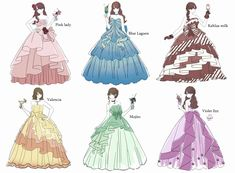 Dress Design Drawing, Dress Design Sketches, Dress Drawing, Fashion Design Drawings, Fashion Sketches, Anime Girl Dress, Anime Girl Cute, Anime Art Girl, Anime Outfits