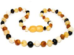 Genuine Raw Baltic Amber Baby Teething Necklace by ambershipcom, $6.49