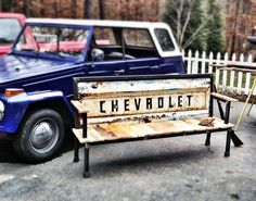 THE ORIGINAL Blue Collar Bench  Vintage by YesterdayReclaimed, $799.00