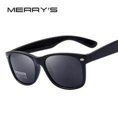 bf1472f25d8 MERRY S Men Polarized Sunglasses Classic Men Retro Rivet Shades Brand  Designer Sun glasses UV400 - Sale