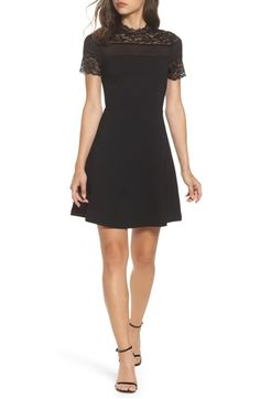 Main Image - Felicity & Coco Katherine Lace Fit & Flare Dress (Regular & Petite) (Nordstrom Exclusive)