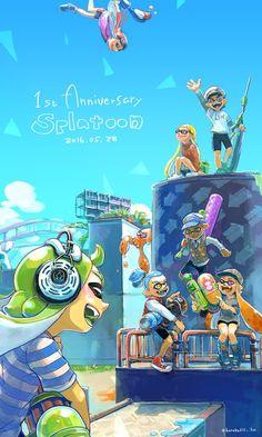 Splatoon's One Year Anniversary Credit: hanako515_ika (Twitter)