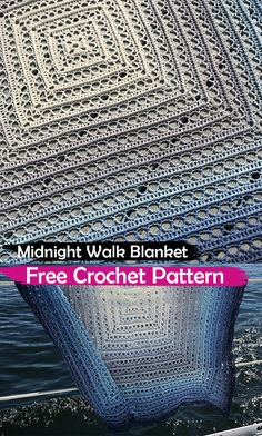 Midnight Walk Blanket Free Crochet Pattern #crochet #crafts #homedecor #blanket #handmade #homemade #style #ideas