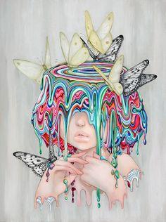 Camilla D'Errico Dances With Dreams In Her New Art Exhibition Psychedelic Art, Camilla, Pop Art, Hippie Art, Arte Pop, Pop Surrealism, Weird Art, Art And Illustration, Surreal Art