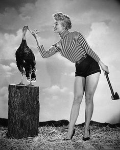 He really didn't see it coming! | 13 Bizarre Vintage Thanksgiving Pinups