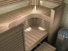 Image result for how to make a curved sauna bench