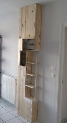Astuce Pour Cacher Une Goulotte Forum Deco Cache Tableau Electrique Cacher Compteur Electrique Placard Cache