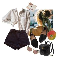 """""""public mango"""" by realplantmom ❤ liked on Polyvore featuring American Apparel, Kate Spade and Jean-Paul Gaultier"""