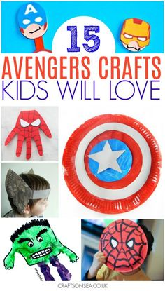 Want some fun Avengers crafts for kids that they can make themselves? We've got 15 awesome ideas they'll love with DIY's inspired by Ironman, Spiderman, Captain America and Hulk - plus a couple of Baby Groot crafts because I couldn't resist them! #kidscraft #avengers #kidsactivities