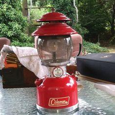 Little Red Lantern: Vintage 1966 Coleman 200A Lantern