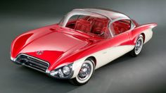 1956 Buick XP-301 Centurion Concept; the first car to use a rear view camera instead of a standard rearview mirror. #1950s