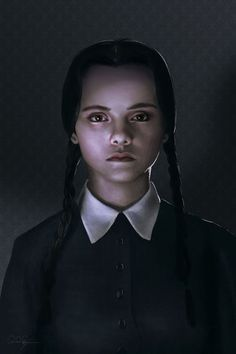 "midnightmurdershow: "" Wednesday Addams by mafaka """