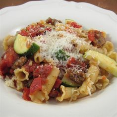 Rustic Sausage Pasta Pasta Dishes, Food Dishes, Main Dishes, Sausage Pasta Recipes, Sausage Meals, Pasta Recipies, Sausage Dip, Yellow Squash Recipes, Homemade Tomato Sauce