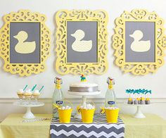 Another great idea from Frog Prince Papery takes something as silly as a rubber duckie and turns it into a super stylish and whimsical party theme.