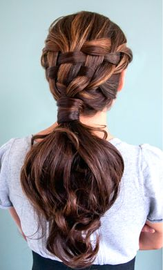 Beautiful braided ponytail | Kenra Professional. Braided Hairstyles. Ponytail