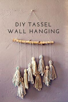 Have some blank walls that need some DIY love? A DIY Tassel Wall Hanging is a quick, inexpensive option to rock your home decor and add texture, fibers and visual interest.
