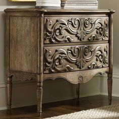 Hooker Furniture 2 Drawer Carved Front Chest | from hayneedle.com