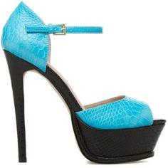 ShoeDazzle Sandals-Dressy - Platform Candi Womens Blue ❤ liked on Polyvore featuring shoes, sandals, blue, sandals-dressy - platform, snake sandals, snake shoes, platform sandals, dressy sandals and fancy sandals