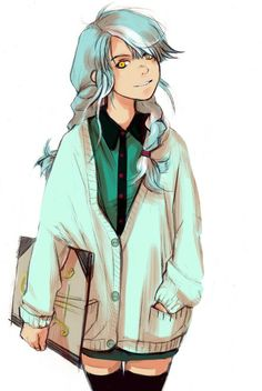 Lyra as a human. I bet if she was a human she would be so happy to have hands or want a pair of hooves....