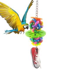 Wimagic 1x Parrot Wooden Grinding Claw Stick Play Stand Perches Pet Toy Cages Decorative Accessories for Budgies Cockatiel Birds length 15cm