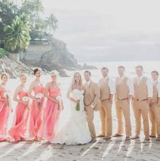 Wedding party attire hair 33 Ideas for 2019 Tan Wedding, Cruise Wedding, Wedding Attire, Wedding Couples, Wedding Colors, Destination Wedding, Dream Wedding, Wedding Dresses, Wedding Flowers