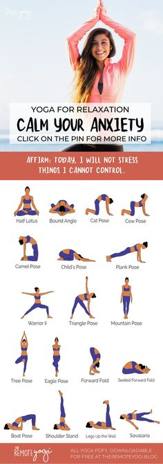 These yoga poses for anxiety relief will reduce anxiety through focus & calming practices. Print out the yoga PDF today. Yoga Flow Sequence, Yoga Sequences, Yoga Poses, Anxiety Relief, Stress And Anxiety, Cow Pose, Understanding Anxiety, Relaxing Yoga, Yoga At Home