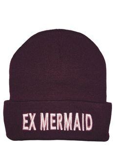 Burgundy Ex-Mermaid Beanie