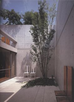 semi enclosed terrace area