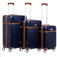 Anne Klein Greenwich 3-piece Hardside Spinner Luggage Set