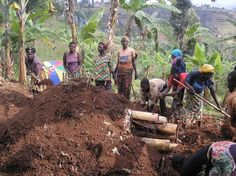 One of Africare/Rwanda's programs involve providing Bio Intensive Farming Techniques to People Living with HIV/AIDS (PLWHA) Associations located in the Nymagabe Province.