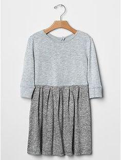 Marled fit & flare dress