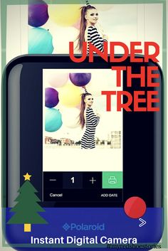 Gifts Under The Tree: For Him (or Her!) -Pop Polaroid Instant Digital Camera -This digital camera produces photos with the classic Polaroid hallmarks via an integrated ink-free printer, instantly converting your favorite candid camera moments into ultra-cool keepsakes. #affiliate #camera #giftsforhim #giftsforher #holidaygifts #myredshoestories