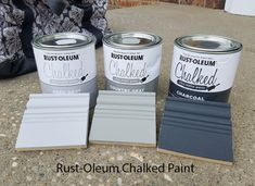 Wait – How Many Shades of Gray? Rustoleum Chalk Paint Colours, Chalk Spray Paint, Chalk Paint Cabinets, Rustoleum Chalked, Gray Chalk Paint, Painting Cabinets, Annie Sloan Chalk Paint Colors, Chalk Painting, Gray Painted Furniture