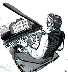 Omg Erik is playing piano for his child^^ <<< this has made me so so so so happy!!!!!