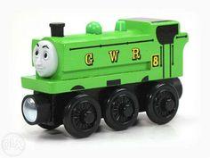 55 lei: Locomotiva Duck nou-nouta, produs Fisher Price pentru sinele de lemn  putem aduce la comanda orice piesa, nu doar cele care sunt in anunturi, multe altele  livrare prin Posta Romana - 10 lei sau... Fisher Price, Orice, Barbie, Barbie Dolls