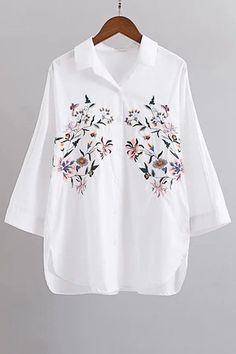 Вышивка шаблон Длинные рукава рубашки