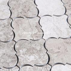 water jet mosaic wood look tile arabesque marble mosaic tiles ...