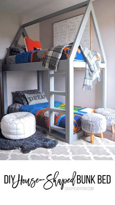 Simple DIY House-Shaped Kids Bunk Bed to Make This Weekend - Savvy Every DaySavvy Every Day