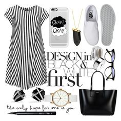 """black and white"" by miss-sunshine-25 ❤ liked on Polyvore featuring David Yurman, It Cosmetics, Choise, Yves Saint Laurent, Vans, Bobbi Brown Cosmetics, Void, Kenneth Jay Lane, Casetify and StreetStyle"