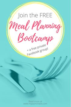 Introducing the FREE Meal Planning Bootcamp + Private Facebook Group! |  Join our free Meal Planning Bootcamp and get a 20 minute daily challenge for 10 days! | #mealplanning #healthymeals #howtomealplan #easymealplans #familymeals #menuplanning