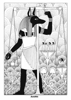 anubis black white line drawing coloring page Free Coloring Sheets, Animal Coloring Pages, Coloring Pages To Print, Coloring Book Pages, Anubis, Egyptian Drawings, Ancient Egyptian Religion, Egyptian Mythology, Egyptian Party