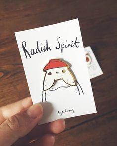 Radish Spirit Pin by KyeCheng on Etsy https://www.etsy.com/transaction/1297010084