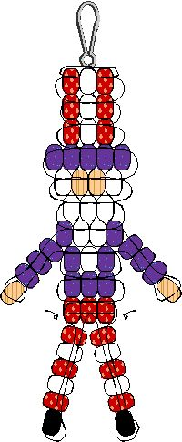 Make this Pony Bead Uncle Sam to hang from your back pack and show your pride in the USA. There are lots of pony bead patterns so create a whole collection Pony Bead Projects, Pony Bead Crafts, Beaded Crafts, Pony Bead Animals, Beaded Animals, Pony Bead Patterns, Beading Patterns, Mosaic Patterns, Knitting Patterns