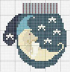 Schema punto croce Guanto-luna