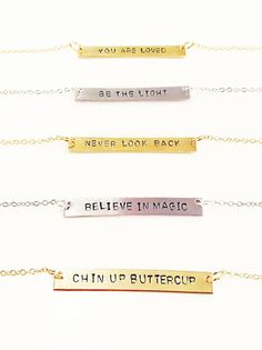 Wearable Mini-Mantras Stamped for the Soul | LoveRewritten.com