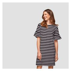 6559fba4b6 Flutter Sleeve Stripe Dress from Joe Fresh. Spring stripes and flutter  sleeves give this crew