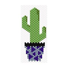 Toujours dans les non-sélectionnés le cactus à bordure de pot noir (trop ressemblant)  #miyuki #perlesmiyuki #miyukidelica #tissage #beads #brickstitch #jenfiledesperlesetjassume #jenfiledesperlesetjaimeca #cactus #motifcharlottesouchet Charlotte Souchet © ✨