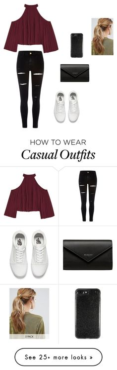 """""""Fancy, but casual"""" by shefalisamtani on Polyvore featuring W118 by Walter Baker, River Island, Vans, Balenciaga and Kitsch"""